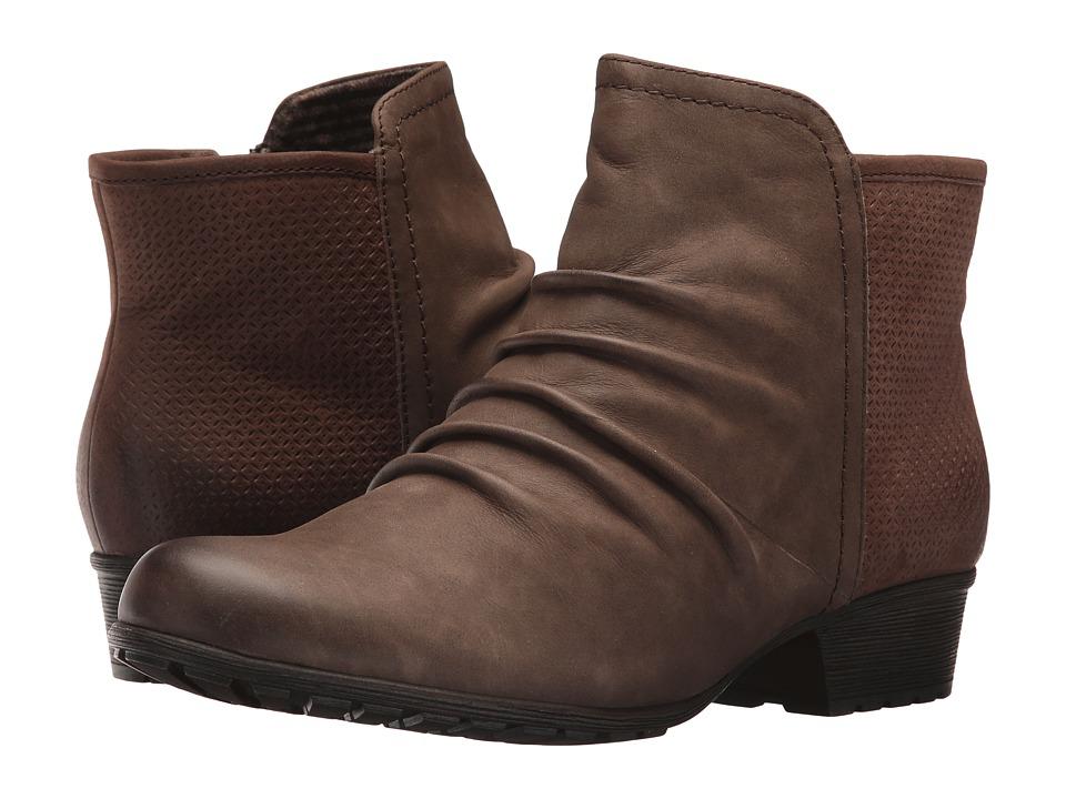 Rockport Cobb Hill Collection - Cobb Hill Gratasha Panel Boot (Stone Nubuck) Womens Shoes