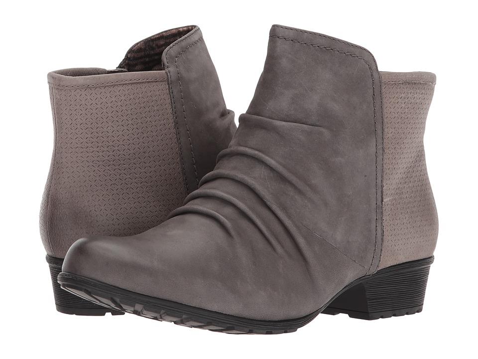 Rockport Cobb Hill Collection Cobb Hill Gratasha Panel Boot (Dark Grey Nubuck) Women's Shoes