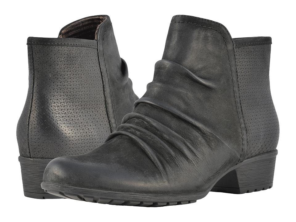 Rockport Cobb Hill Collection Cobb Hill Gratasha Panel Boot (Black Nubuck) Women's Shoes