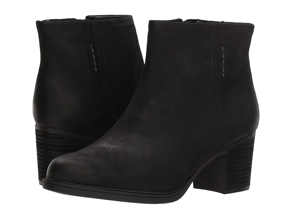 Vintage Style Boots, Retro Boots, Granny Boots, Fur Top Boots Rockport Cobb Hill Collection - Cobb Hill Natashya Bootie Black Nubuck Womens Shoes $144.95 AT vintagedancer.com