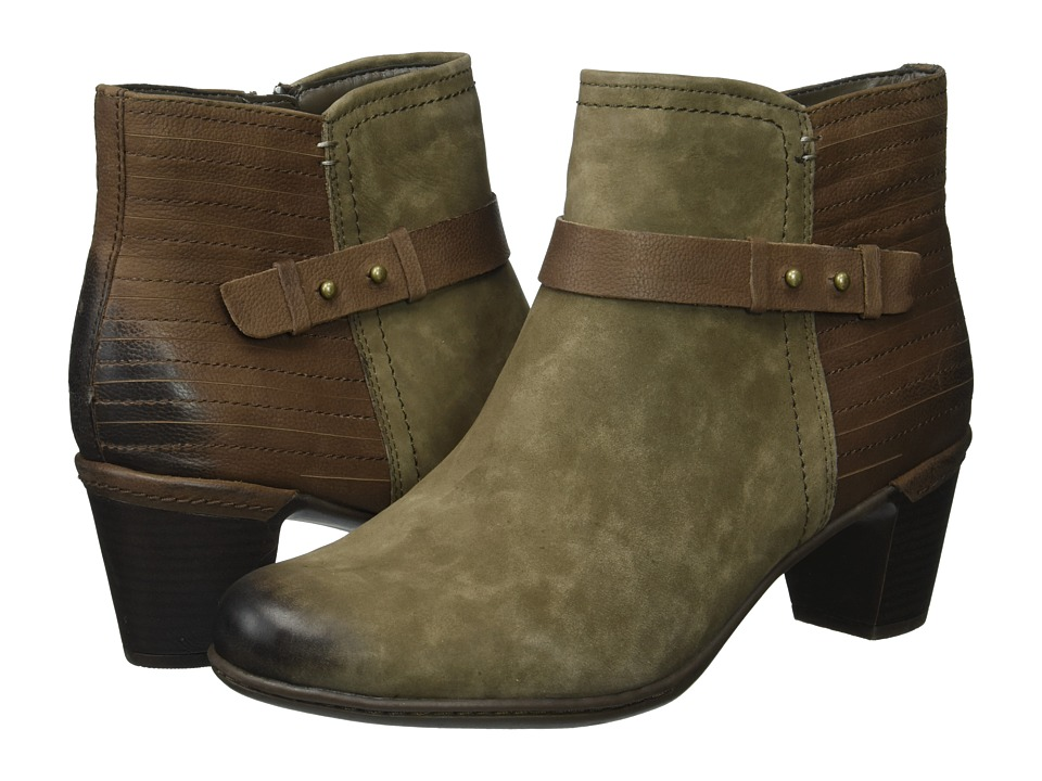 Rockport Cobb Hill Collection - Cobb Hill Rashel Buckle Boot (Stone Nubuck) Womens Shoes
