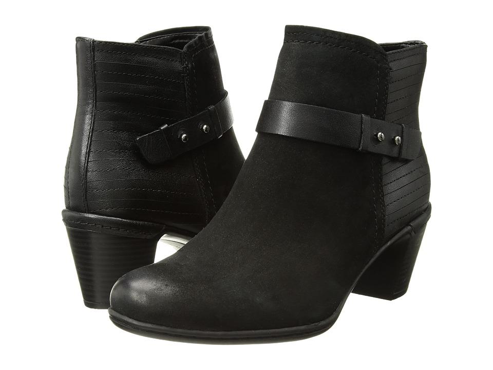 Rockport Cobb Hill Collection Cobb Hill Rashel Buckle Boot (Black Nubuck) Women's Shoes
