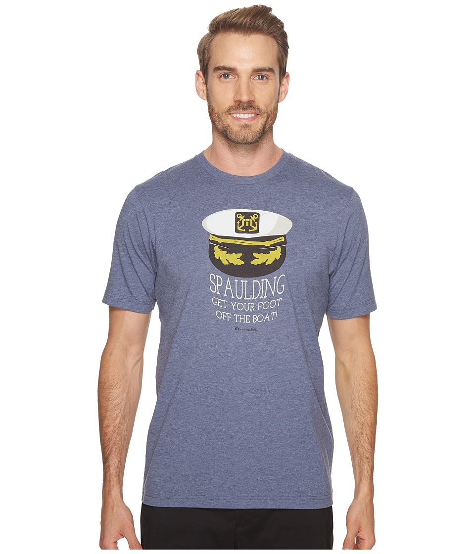 TravisMathew - Spaulding Top (Vintage Indigo) Mens T Shirt