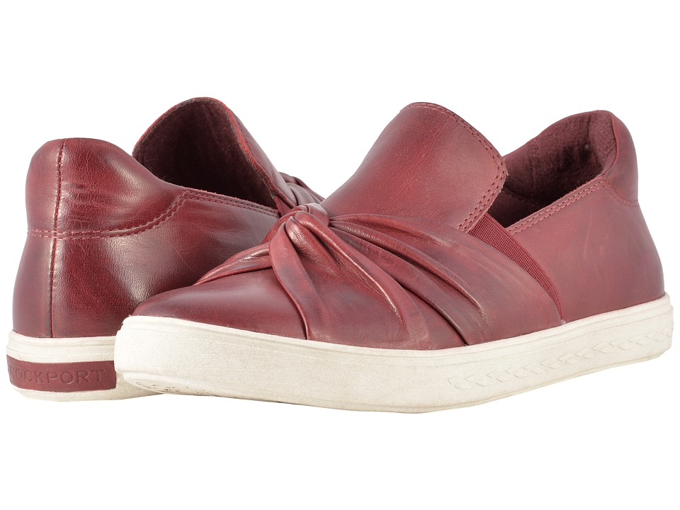 Rockport Cobb Hill Collection Cobb Hill Willa Bow Slip-On (Wine Leather) Women