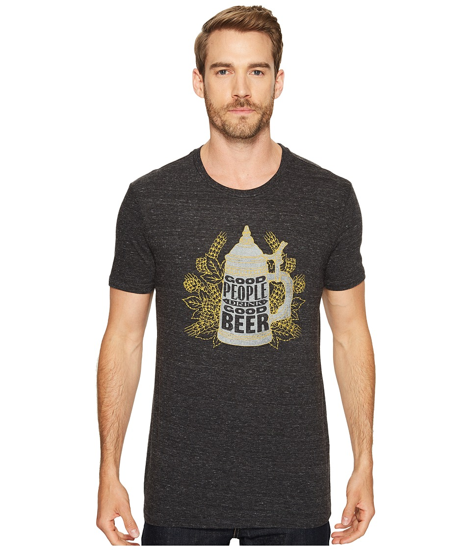 Lucky Brand Good Beer People Graphic Tee (Onyx) Men