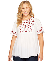Lucky Brand - Plus Size Hannah Embroidered Top