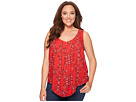 Lucky Brand - Plus Size Paisley Tank Top