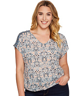 Lucky Brand - Plus Size V-Neck Peasant Top
