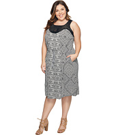 Lucky Brand - Plus Size Knit Macrame Dress