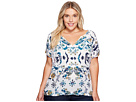 Lucky Brand - Plus Size Floral Flutter Top