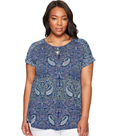 Lucky Brand - Plus Size Paisley Printed Tee