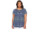 Plus Size Paisley Printed Tee
