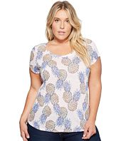 Lucky Brand - Plus Size All Over Pineapple Tee