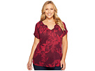 Lucky Brand - Plus Size Tropical Leaves Peasant