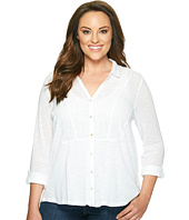 Lucky Brand - Plus Size Woven Gauze Mixed Top