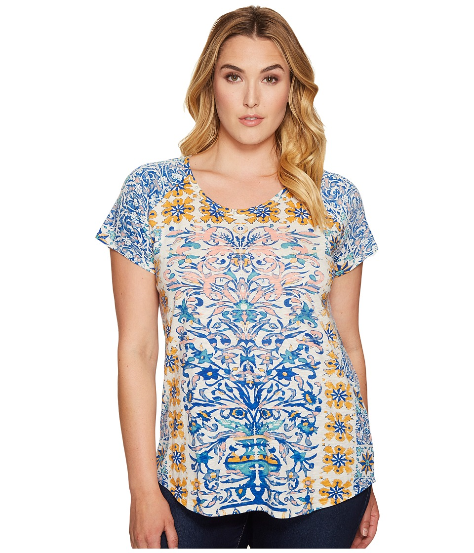 Lucky Brand Plus Size Placed Geo Tee (Multi) Women
