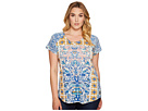 Lucky Brand - Plus Size Placed Geo Tee