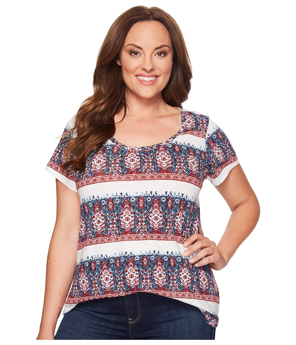 Lucky Brand Plus Size Stripe Tee (Multi) Women