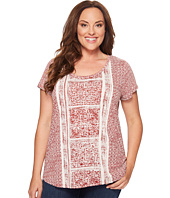 Lucky Brand - Plus Size Spiced Red Printed Tee