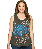 Lucky Brand - Plus Size Embroidered Peacock Tank Top
