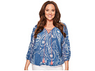 Lucky Brand Plus Size Exploded Floral Peasant Top