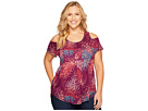 Lucky Brand - Plus Size Floral Cold Shoulder Top