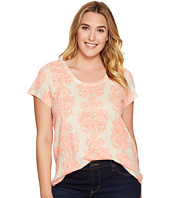 Lucky Brand - Plus Size Neon Woodblock Tee