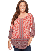 Lucky Brand - Plus Size Placed Peasant Top