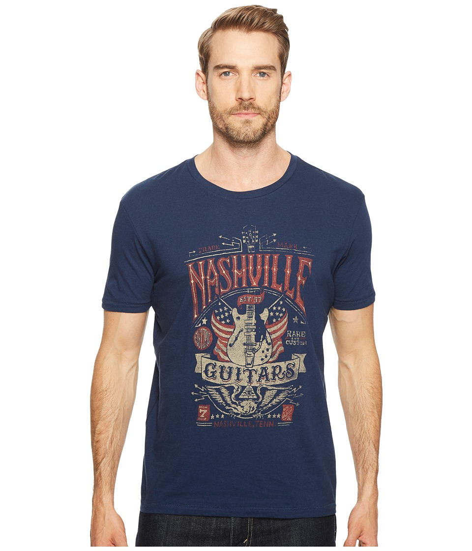 Lucky Brand Nashville Guitar Flag Graphic Tee (American Navy) Men