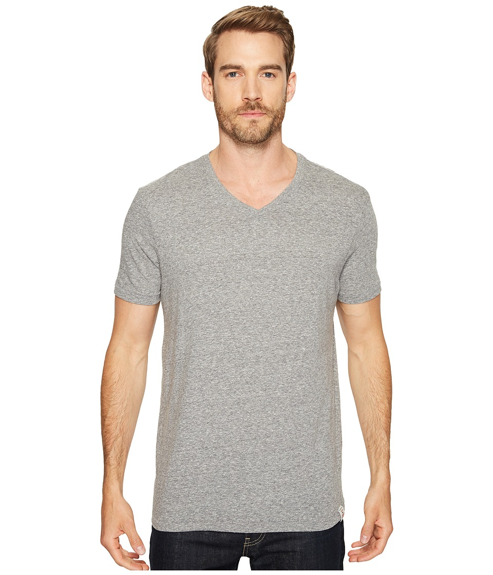 Lucky Brand V-Neck Tee (Grey) Men