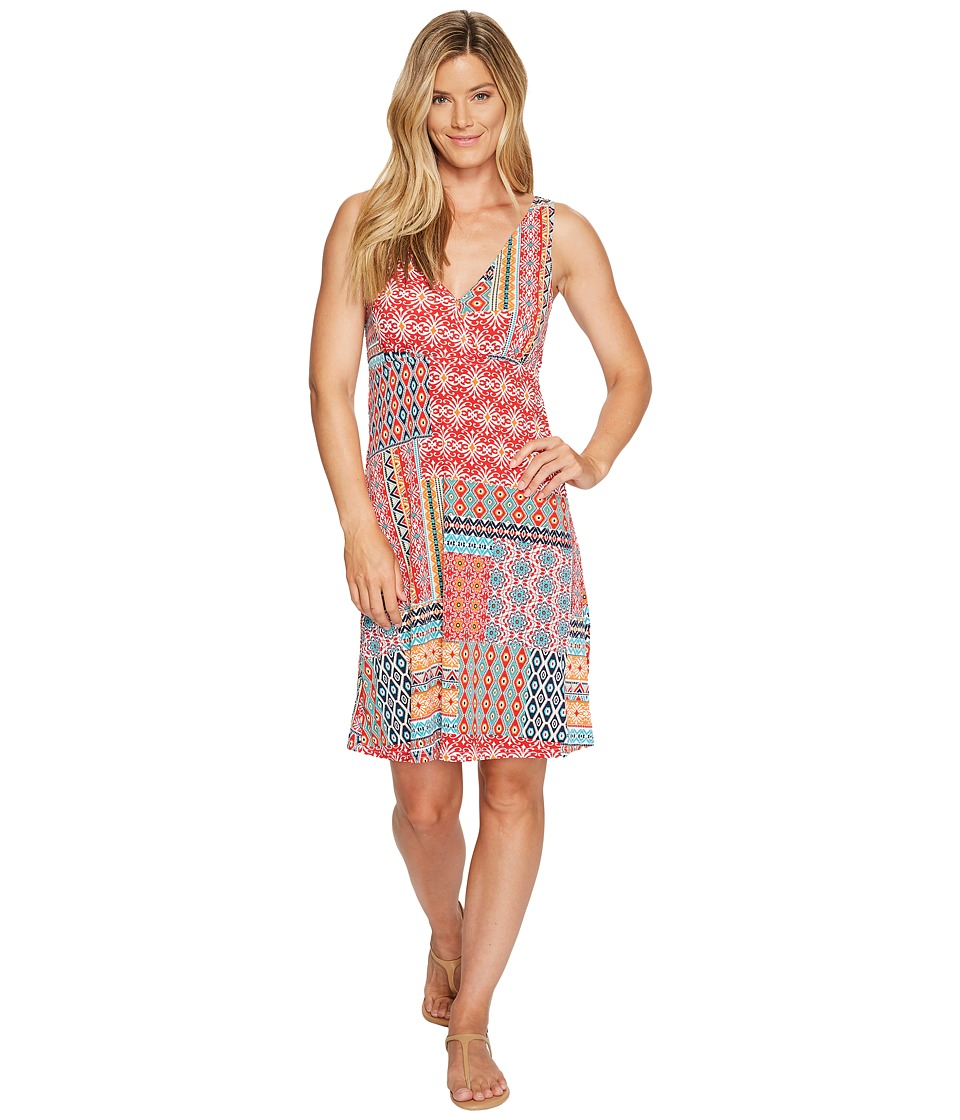 Roper 0978 Floral Aztec Patch Print Tank Dress (Red) Women
