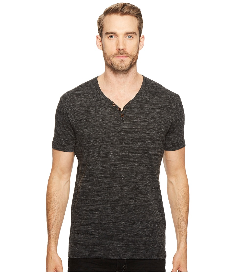 Lucky Brand Y-Neck Tee (Black Mountain) Men