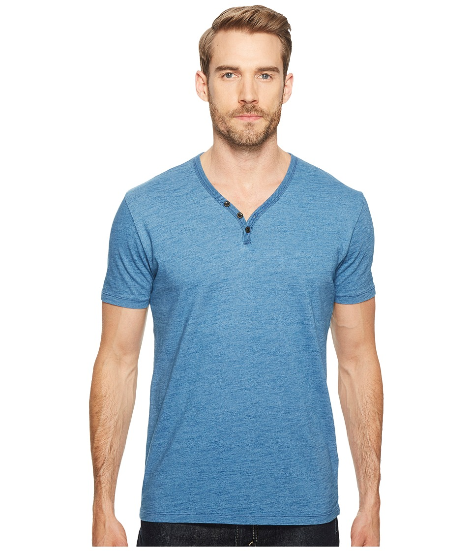 Lucky Brand Indigo Y-Neck Tee (Indigo) Men