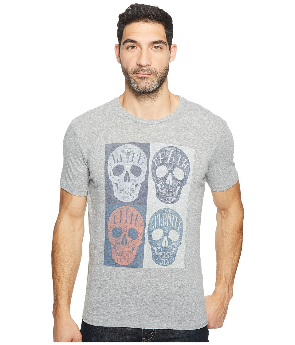Lucky Brand Mori Skulls Graphic Tee (Quiet Shade) Men