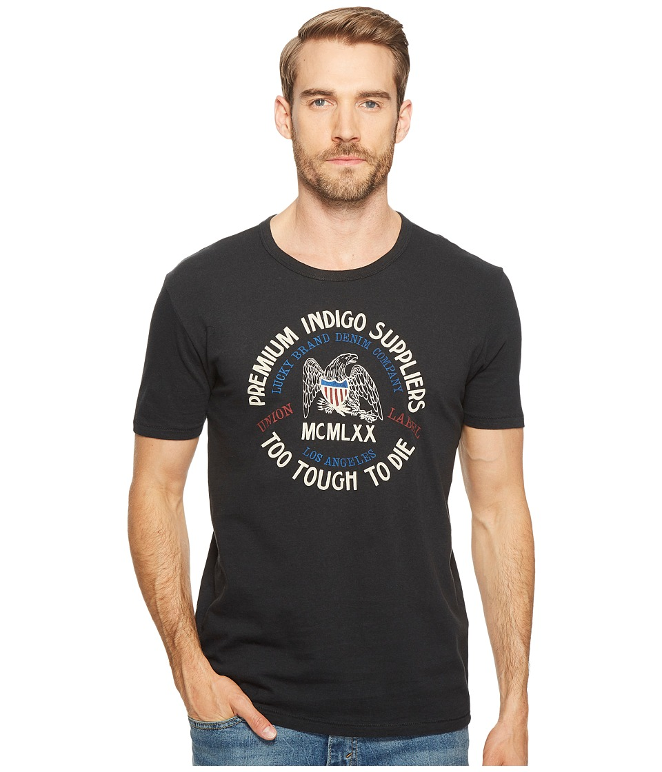 Lucky Brand Eagle Logo Graphic Tee (Jet Black) Men