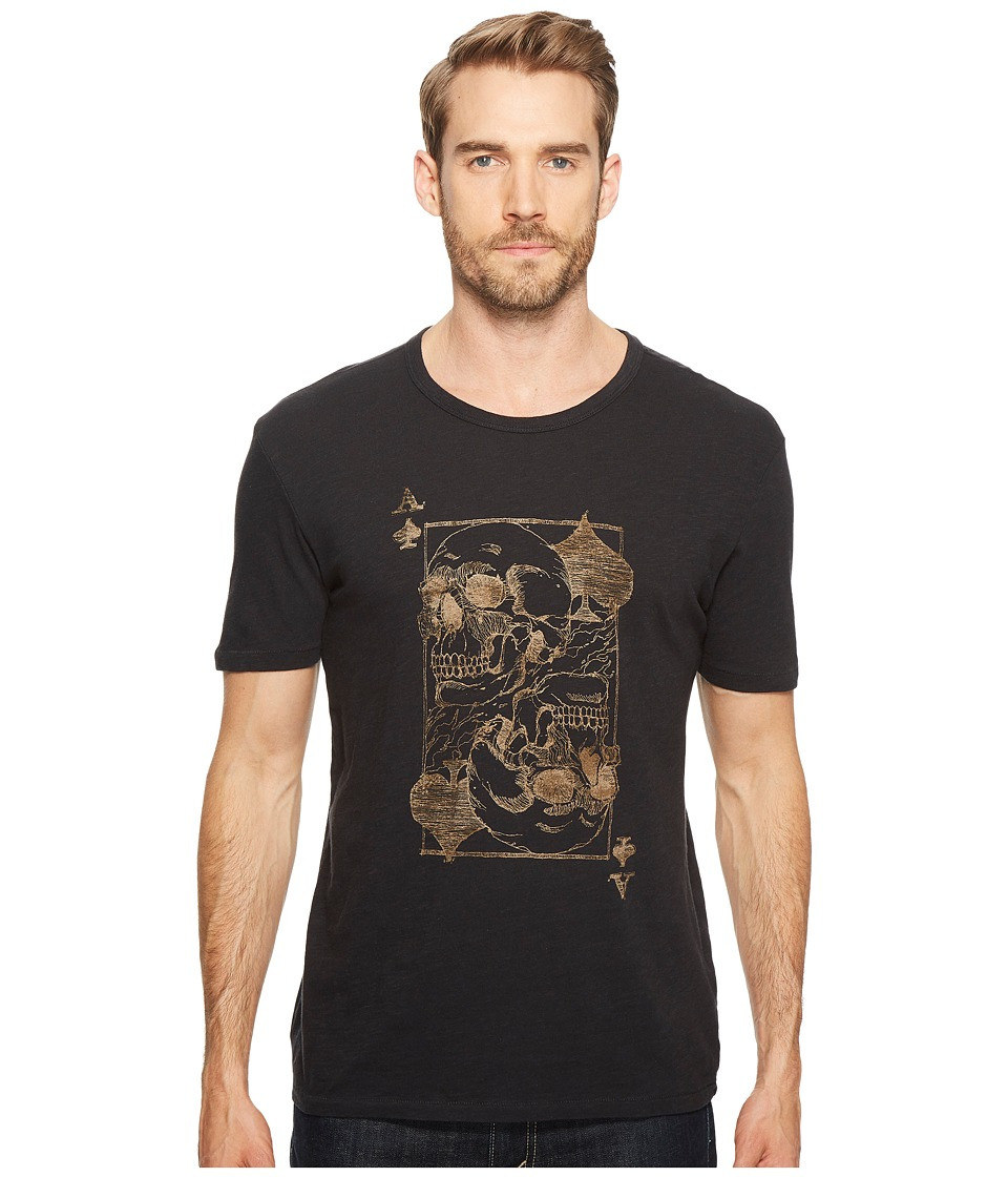 Lucky Brand Ace Skulls Graphic Tee (Jet Black) Men