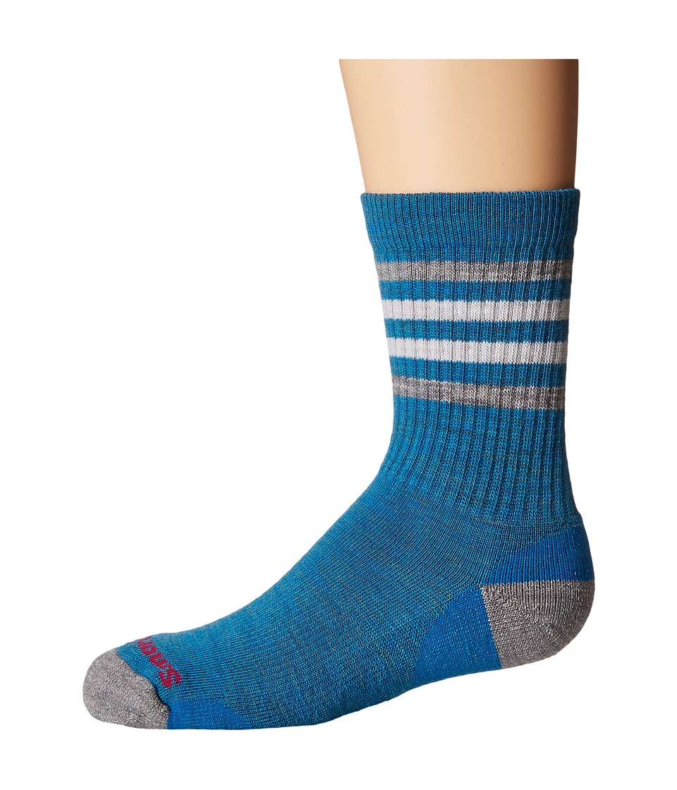 Smartwool - Striped Hike Light Crew (Toddler/Little Kid/Big Kid) (Glacial Blue) Crew Cut Socks Shoes