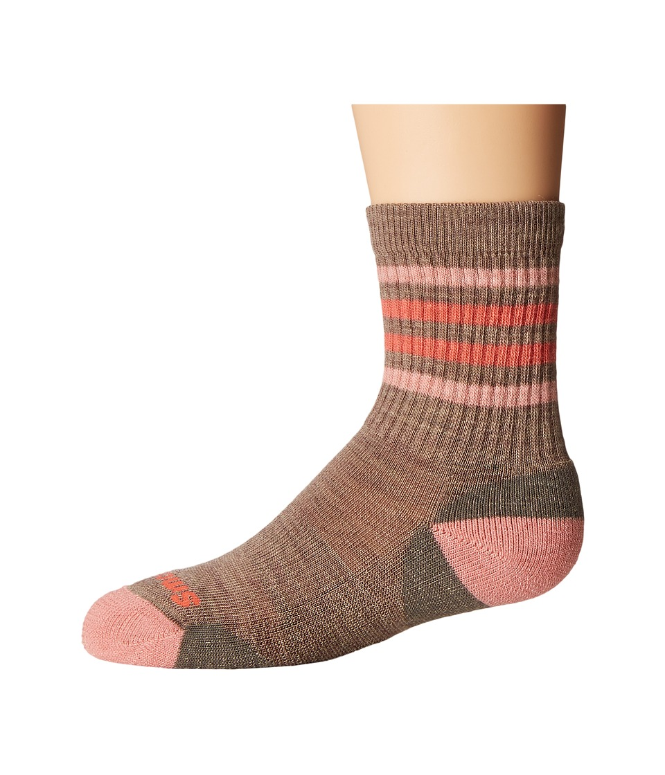 Smartwool - Striped Hike Light Crew (Toddler/Little Kid/Big Kid) (Fossil) Crew Cut Socks Shoes