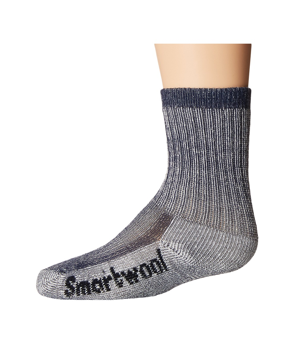 Smartwool - Hike Medium Crew (Toddler/Little Kid/Big Kid) (Navy) Crew Cut Socks Shoes