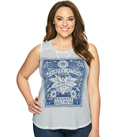 Lucky Brand - Plus Size Striped Matchbox Tank Top