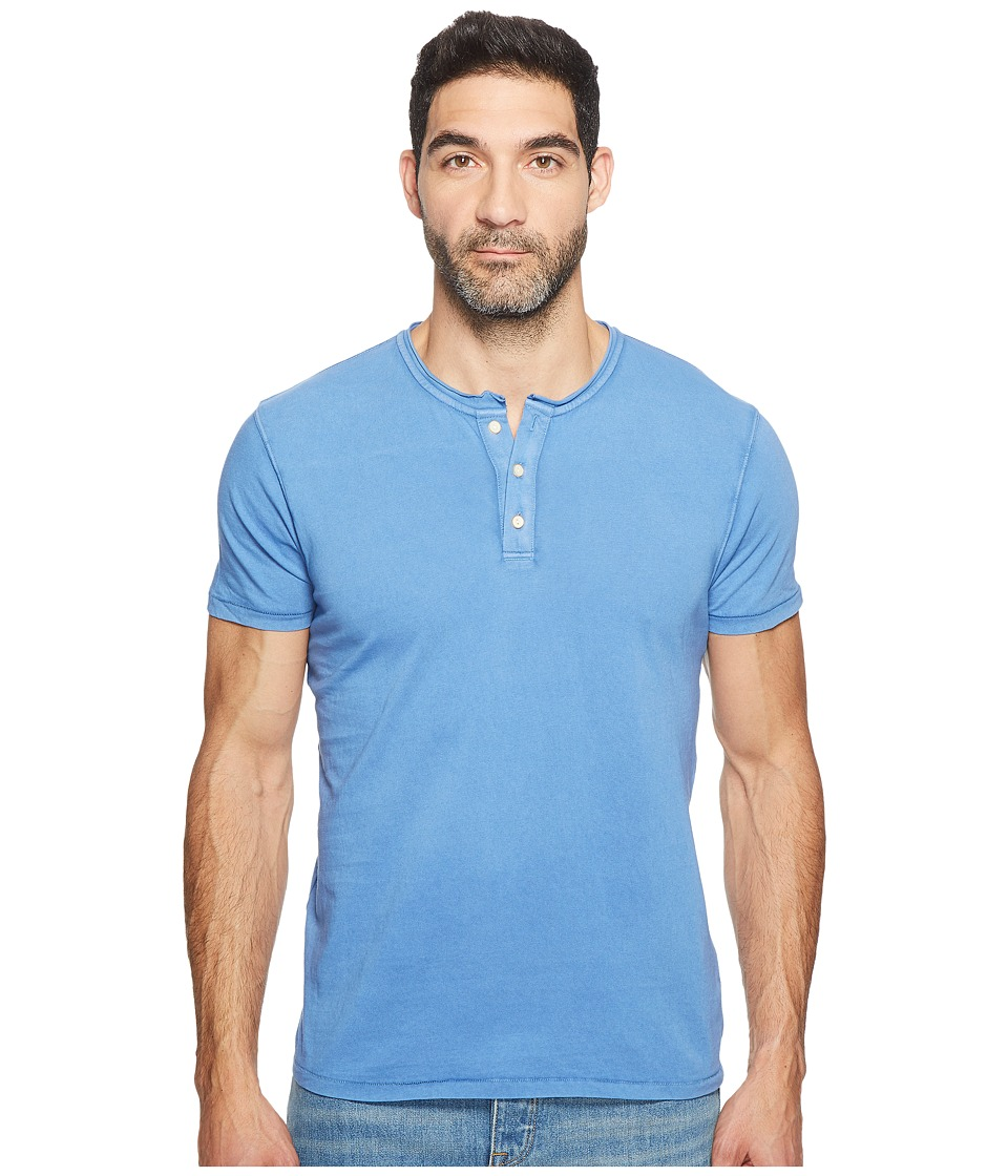 Lucky Brand Rolled Neck Henley (Federal Blue) Men