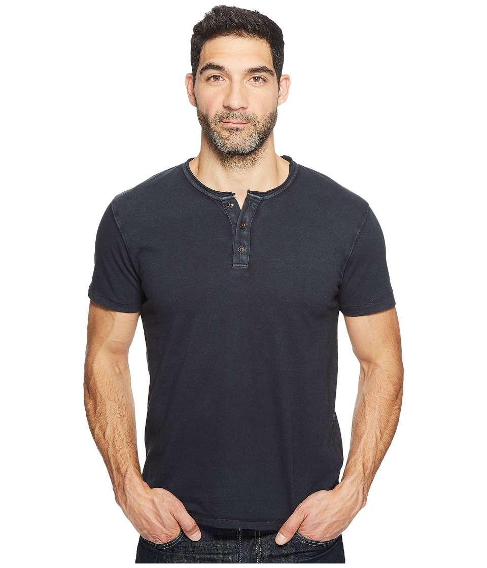 Lucky Brand Rolled Neck Henley (Jet Black) Men