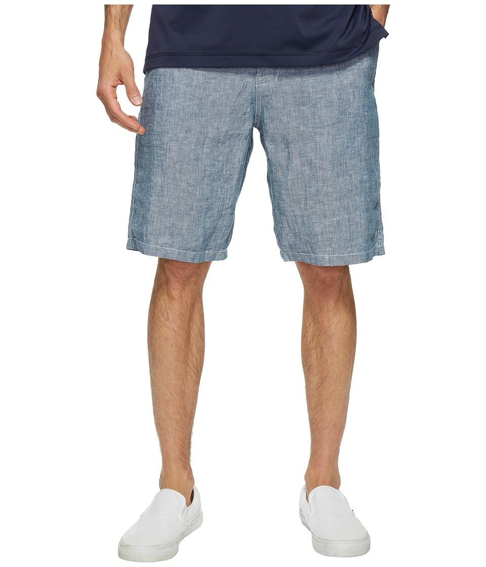 Lucky Brand Chambray Flat Front Shorts (Chambray) Men