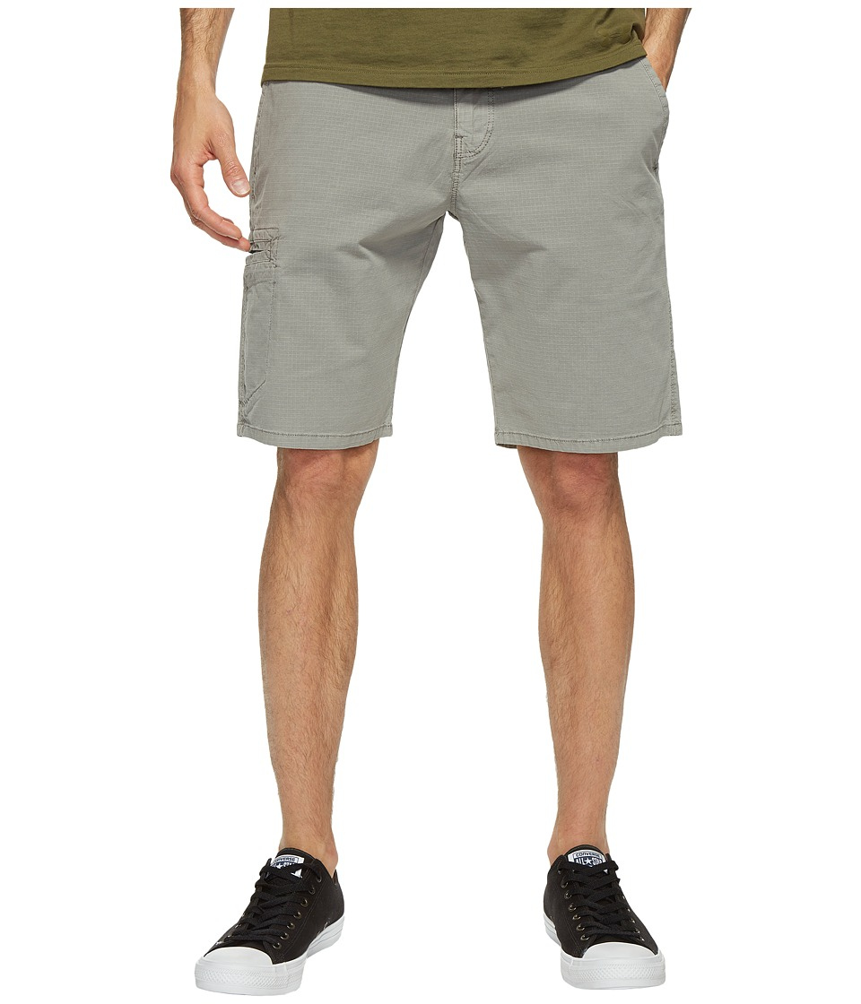 Lucky Brand Rip Stop Utility Shorts (Frost Gray) Men
