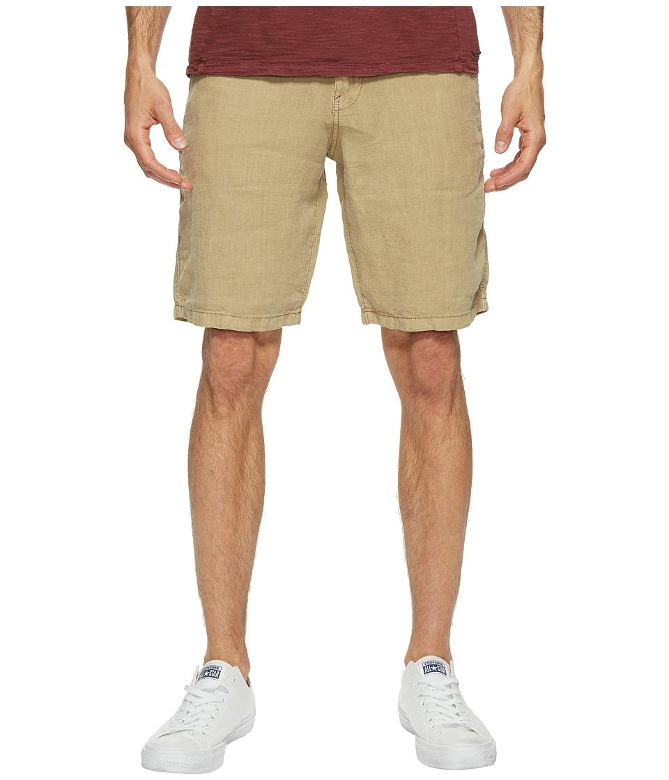Lucky Brand Linen Flat Front Shorts (Twill) Men