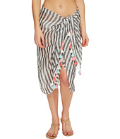 Seafolly - Linen Block Stripe Sarong Cover-Up