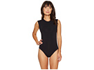 Seafolly Castaway Stripe Active Cap Sleeve Maillot One-Piece