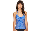 Cottage Paisley Lace-Up Tankini Top