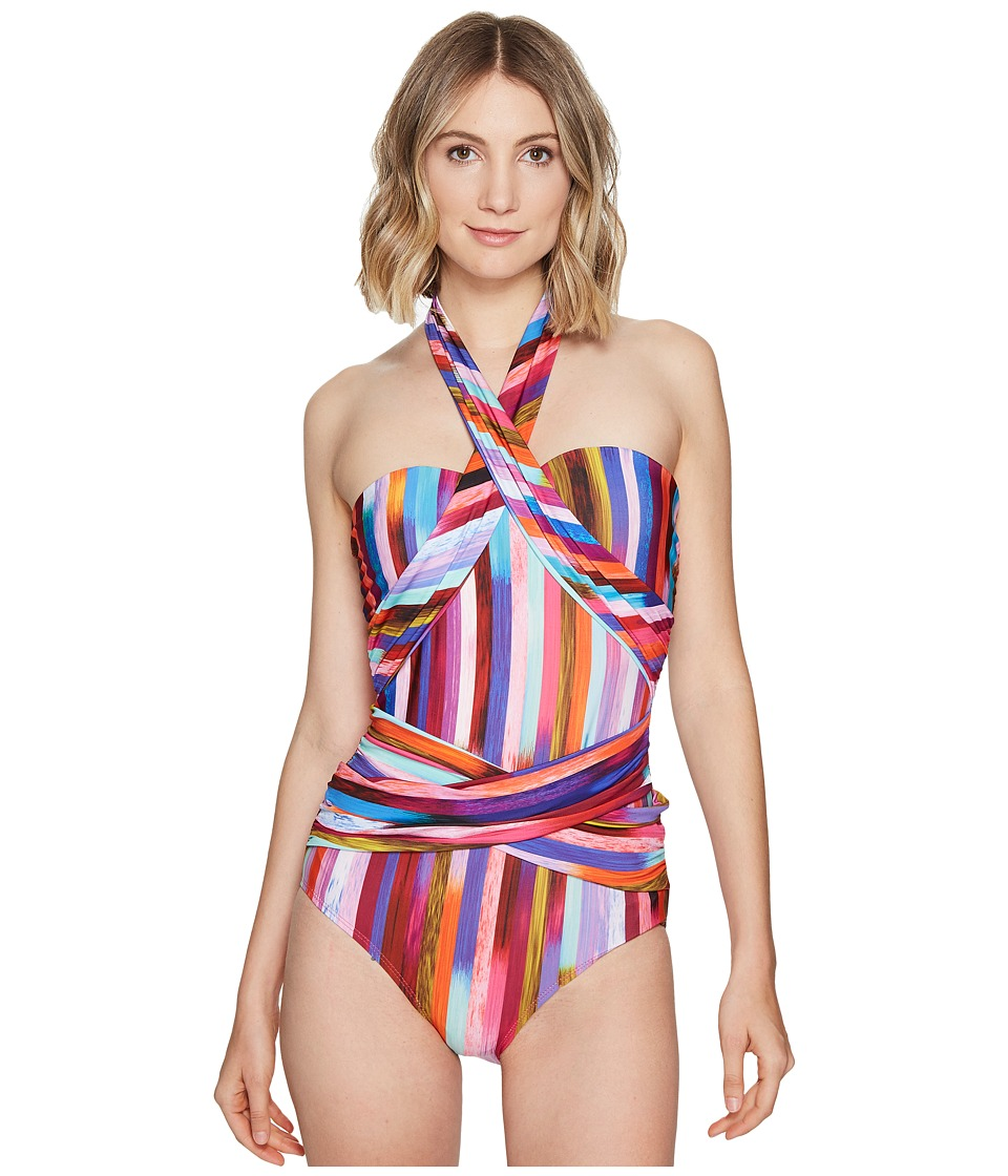 Athena - Kaliedostripe Ashlyn Molded Cup One-Piece