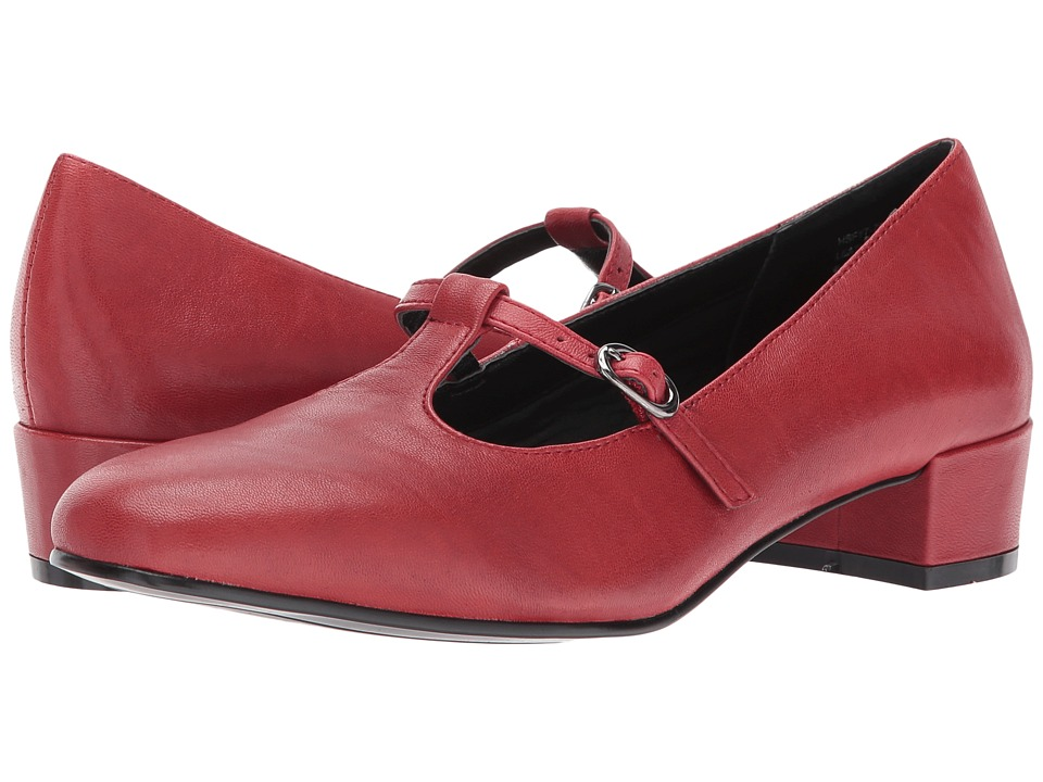1950s Style Shoes David Tate - Emma Red Womens Shoes $77.99 AT vintagedancer.com